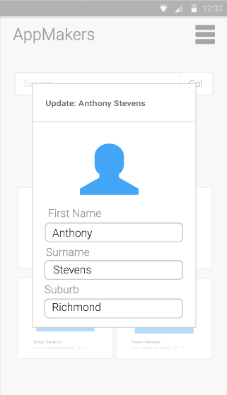 Update Customer - mobile