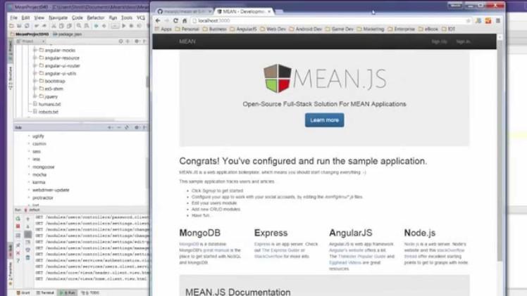 Install MEAN.js 0.4.0 and run using Gulp