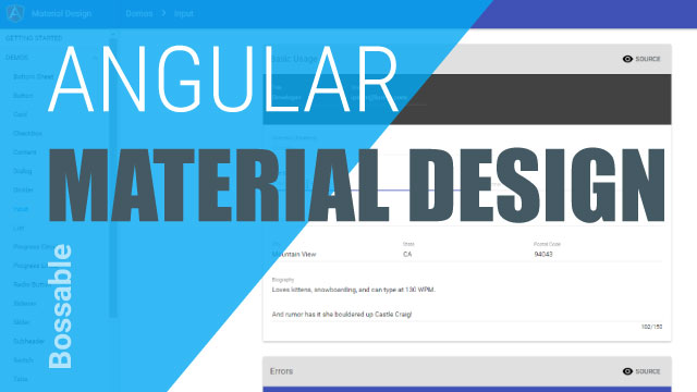 AngularJS Material Design in your MEAN Stack