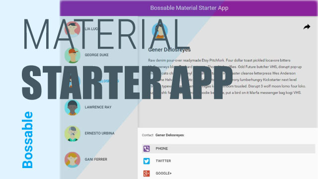 AngularJS Material Starter App in the Mean Stack