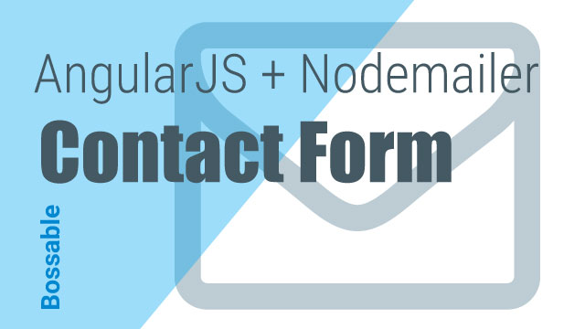 AngularJS + Nodemailer Contact Form